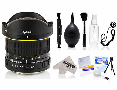 Opteka 6.5mm Fisheye Lens with Kit for Canon 70D 60D 7D T6i T6s T5i T5 T4i T3i