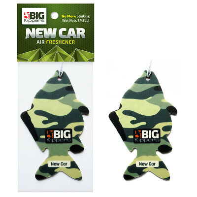 1 x NEW CAR SCENT 'Fish Themed' Car Air Freshener by Big Kippers | FREE Delivery