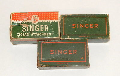 Lot of 3 EMPTY Singer Sewing Boxes