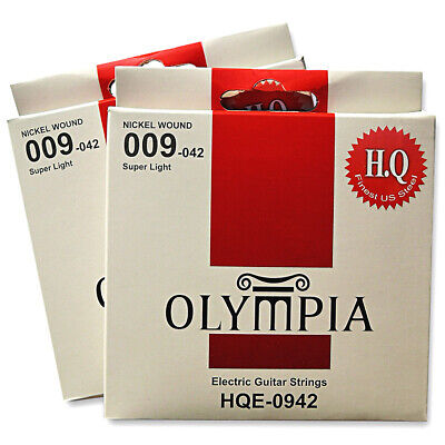 Olympia High Quality Platinum Electric Guitar Strings Set Gauge 9