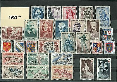 France Annee Complete 1953 ** Neuf