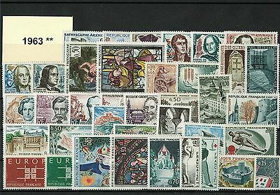 France Annee Complete 1963 ** Neuf