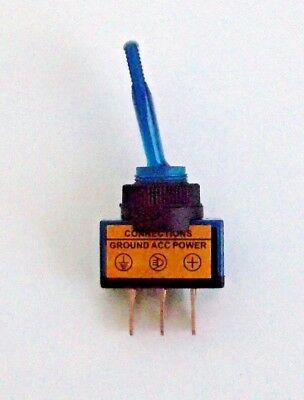 6 BBT Red Lighted Marine Grade On//Off 20 amp 12 volt Toggle Switches