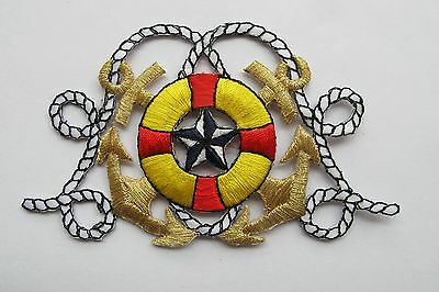 Nautical Marine Anchor,Wheel,Star,Crown Tab Embroidery Iron On Applique Patch