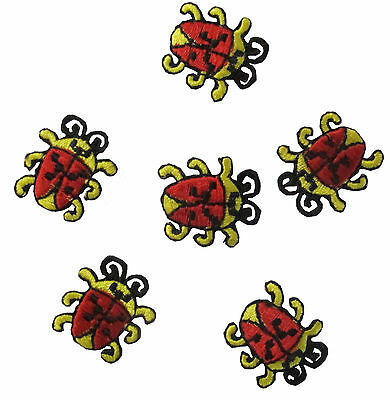 Lot 6PCS Ladybug Embroidery Iron On Applique Patch