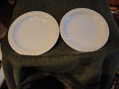 Homer Laughlin Plate Ironstone(2) Restaurant Ware Gold /Yellow Wheat Vintage