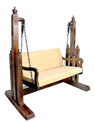 Traditional intrinsic beautiful handcarved outdoor/indoor wooden swing/jhula