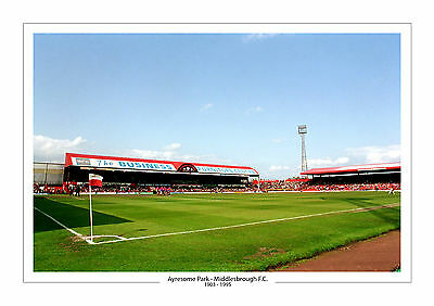 Aerial Photo Middlesbrough Ayresome Park Stadium A4 Print Photo