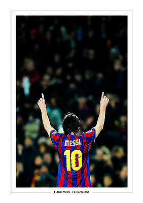 Lionel Messi A4 Print Photo Fc Barcelona Gift For Him