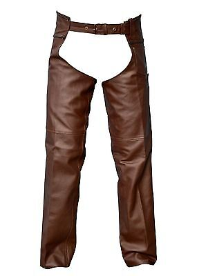 02 Pairs Deal brown leather braided chaps black leather braided chaps