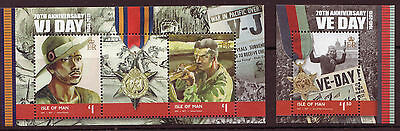 Isle Of Man 2015 Ve And Vj Day, 2 Miniature Sheets Unmounted Mint, Mnh