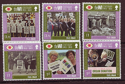Isle Of Man 2015 Womens Institute Set Of 6, Scented, Unmounted Mint, Mnh