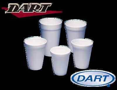 300 - 10oz DART WHITE FOAM / POLYSTYRENE DISPOSABLE PARTY CUPS + FREE DELIVERY