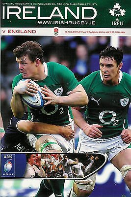 IRELAND v ENGLAND 2011 RUGBY PROGRAMME - SIX NATIONS - 19th March