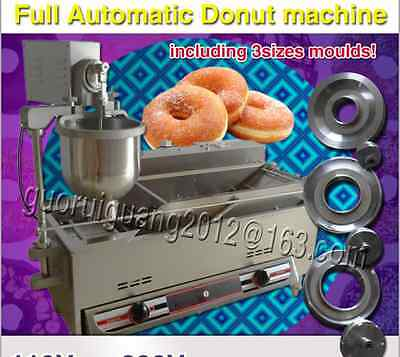 Automatic gas&electric donut maker,donut robot,donut machine with 3 sizes moulds