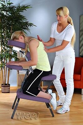 Foldable Portable Massage Chair in PURPLE - VIOLET - MAGENTA