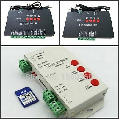 T-1000 T-4000 T-8000 SD card Programmable RGB LED strip Controller pixel control