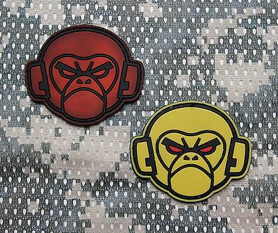 Rubberpatch Rubber Aufnäher Patch Klett EDC BoB 3D Prepper Tactical Tac Monkey