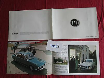 N°4069 /  catalogue la nouvelle berline TRIUMPH 2,5 P.I .MK2    septembre 1969