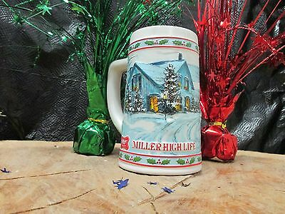 Miller High Life Limited Edition Collectible Christmas Themed Beer Stein/Mug