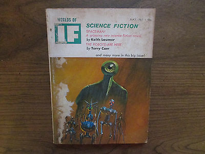 1967 Worlds Of IF May Vol 17 #5 Science Fiction, Spaceman, Robots Are Here VG
