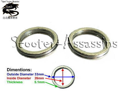 2x EXHAUST GASKET for MBK Rocket 50, Ovetto 50