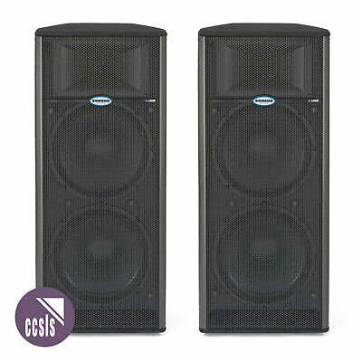 Samson Live 1215 Dual 15-Inch And Horn Powered Speaker Cabinet _ Pair