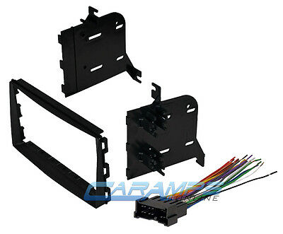 New Double 2 Din Car Stereo Dash Install Kit W/ Wiring Harness Fits Kia Spectra