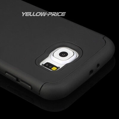 For Samsung Galaxy S6 G920 Shockproof Rugged Hybrid Rubber Hard Cover Case Films