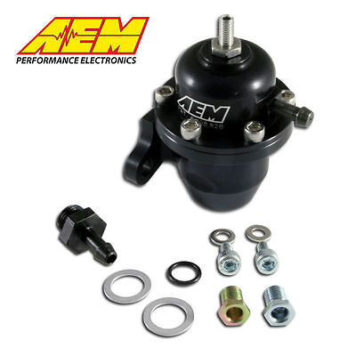 AEM 25-301BK Black High Volume Adjustable Fuel Pressure Regulator