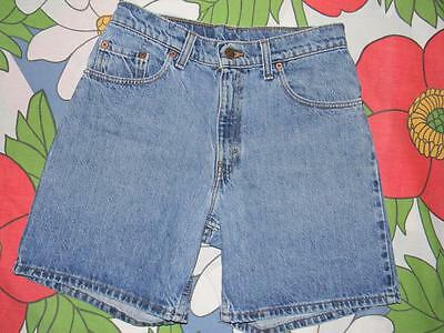 Vintage Levis Made in USA jeans shorts blue denim size 7 550 relaxed fit 29 inch