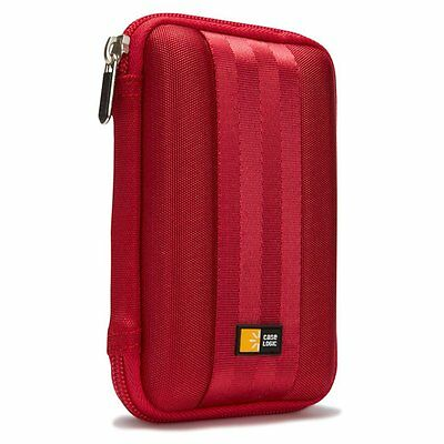 Case Logic Portable EVA Hard Drive Case QHDC-101 - Red, New, Free Shipping,
