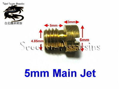 MAIN JET 5mm for CVK,GY6,GY,SYM,KYMCO+CHINESE etc #135