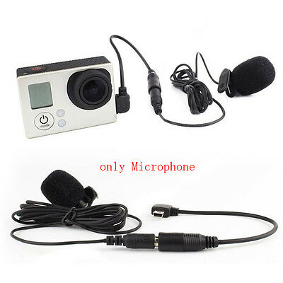 1PC NEW  External Microphone Clip On Mic 3.5mm for GoPro Hero 3 Hero 3+