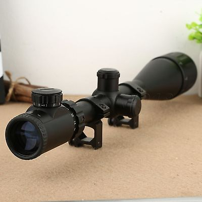 6-24x50 AOE Optics Air Rifle Red Green Mil-Dot Sight Scope for 20mm Rail Mount