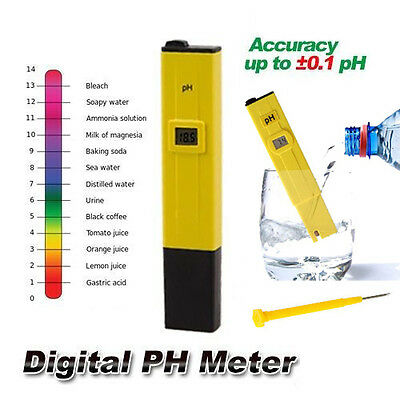 Hot! Ph Metre Digital Testeur Pour Piscine Hydroponie Eau Ph Plantes Aquarium
