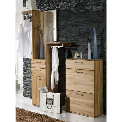 garderoben set kernbuche massiv flur garderobe kommode spiegel schuhschrank eur. Black Bedroom Furniture Sets. Home Design Ideas