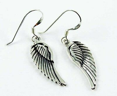 **beautiful Solid 925 Silver Angel Wings Earrings**