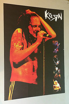 Korn Poster pin-up Photo on stage collage Rock n Roll Music Memorabilia Funky