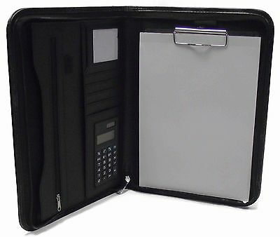 A4 folder PU Organiser, with clip board option to Personalise text or logo, 3108
