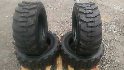 4 NEW 10-16.5 Skid Steer Tires with Rimguard -10X16.5 12 PLY-for Bobcat & others