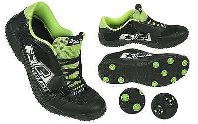 PAINTBALL BRAND NEW PLANET ECLIPSE EXALT PAINTBALL CLEATS - BLACK/GREEN Size 8