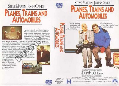 Planes, Trains & Automobiles, VHS Video Promo Sample Sleeve/Cover #8455