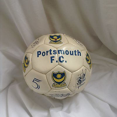 Portsmouth 1999-2000 Original Hand Signed Official Football With 15 X Signatures