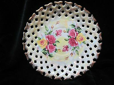Original Lustreware Napco China Reticulated Saucer - Japan - 1DD293