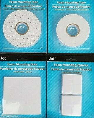 DOUBLE-SIDED FOAM MOUNTING TAPE DOTS SQUARES, SELECT: Type of Adhesive Mount