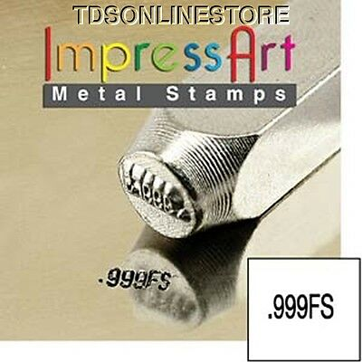 "Metal Design Stamp By Impressart 2mm "".999fs"" Quality Mark"