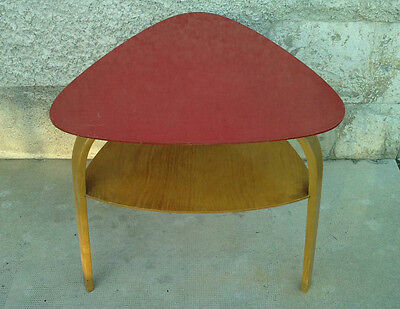 Table basse design steiner style bow Wood coffee