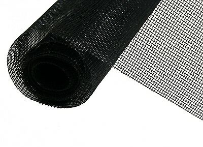 Insect protection Fiberglass Textile Fly Screen Gauze black 130 x 150 cm