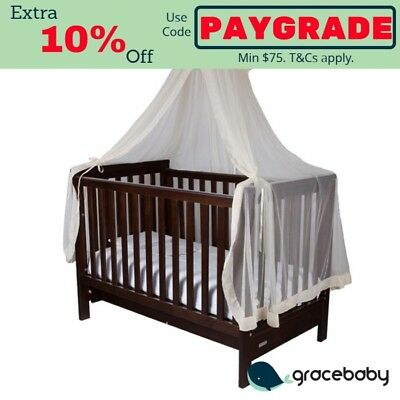 Infa Secure Baby Cot Halo Net and Stand - Beige
